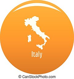 Italy map in black vector simple