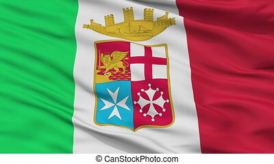 Italy Naval Ensign Flag Closeup Seamless Loop - Naval Ensign...