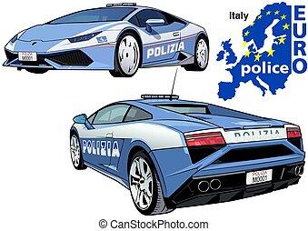 Italy Police Car