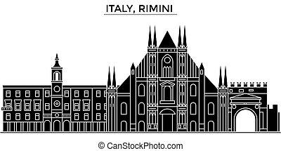 Italy, Rimini architecture vector city skyline, travel...