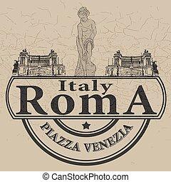 italy roma stamp