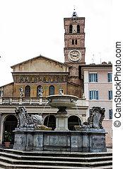 rome. church of santa maria in trastevere