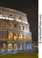 Italy Rome Coliseum in the night
