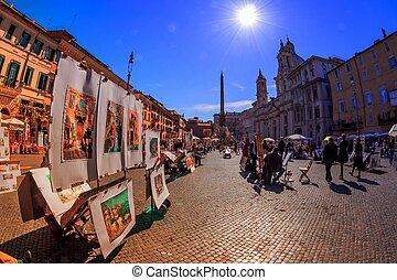 italy, rome, piazza navona - italy, rome. piazza navona