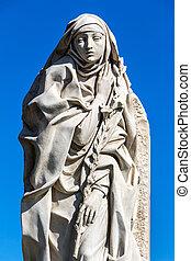 italy, rome, statue