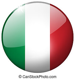 Italy Round Glass Button