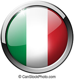 Italy Round Metal Glass Button
