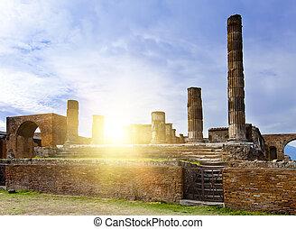 italy., ruines, pompey.