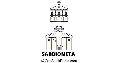 Italy, Sabbioneta line travel skyline set. Italy, Sabbioneta...