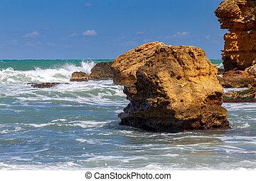 Italy. Sicily. Castellammare del Golfo. - City beach in ...