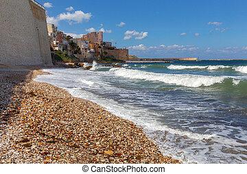 Italy. Sicily. Castellammare del Golfo. - City promenade and...