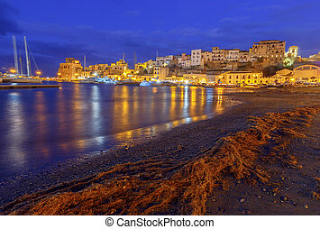 Italy. Sicily. Castellammare del Golfo. - View of ...