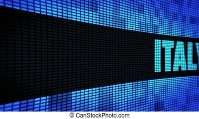 ITALY side Text Scrolling LED Wall Pannel Display Sign Board...