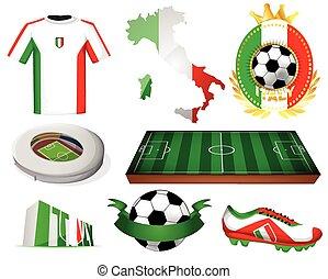 Italy soccer vector illustration
