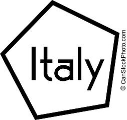 ITALY stamp on white background