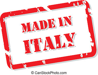 Italy Stamp - Red rubber stamp vector of Made In Italy