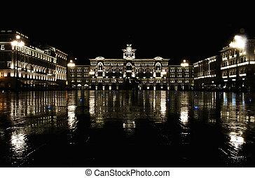 Italy, Trieste, piazza Italia - Italy, Trieste, piazza Unita...