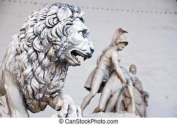 Italy, Tuscany, Florence. Piazza della Signoria