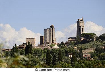 Italy, Unesco World Heritage site of San Gimignano