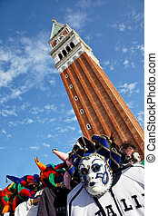 italy, venice, st. mark's square - the famous st. mark's...
