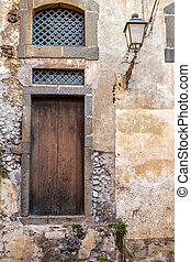 Italy: view of rustic old door