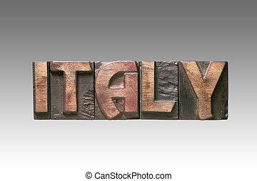 Italy vintage type