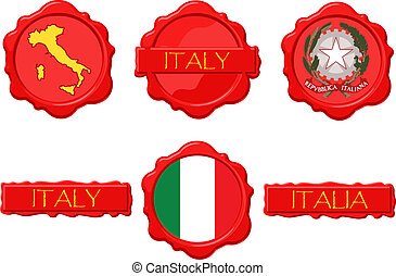 Italy wax stamps