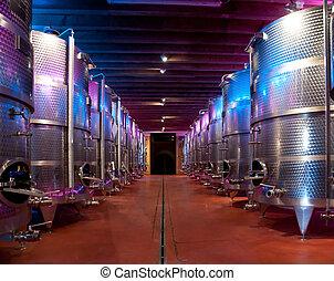 Italy: winemaking (franciacorta) - Wine production in a...