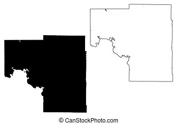 Itasca County,  Minnesota (U.S. county, United States of America, USA, U.S., US) map vector illustration, scribble sketch Itasca map