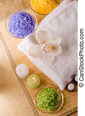 Items for energetic cleaning feet