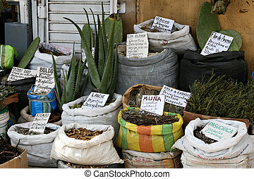 Items in a Witches Market - A witches market in Peru ...