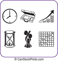 Items Office - business set. Vector illustration.