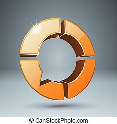items., -, quatre, parole, bulles, icon., 3d