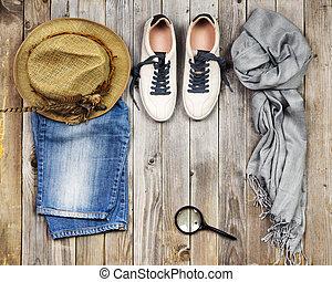 items., viaggiare, set