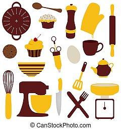 itens, cozinhar