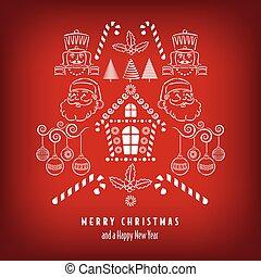 itens, feriado, natal, fundo