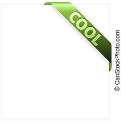 itens, fresco, verde, fita, canto