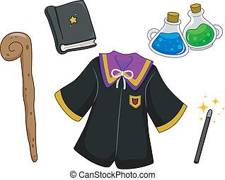 itens, wizard, projete elementos