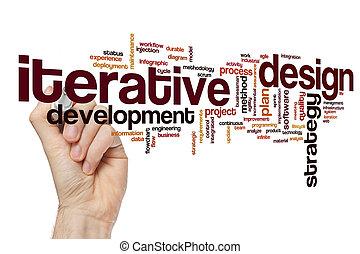 iterative, desenho, palavra, nuvem, conceito