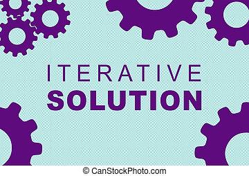 iterative, solução, conceito