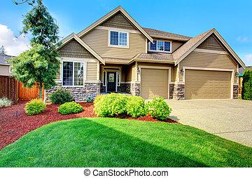 ith, casa, bonito, meio-fio, recurso, luxo