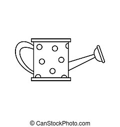 iThe watering can icon, outline style