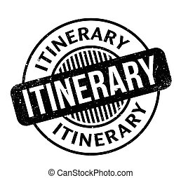 Itinerary rubber stamp