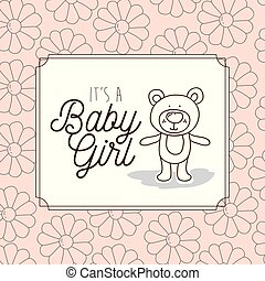 its a baby girl frame with bear teddy