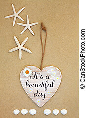 Its A Beautiful Day - Its a beautiful day distressed wooden ...