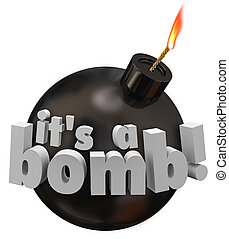 Its a Bomb Round Cannonball Words Explosion Bad Review Performan