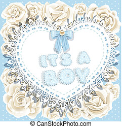 it`s a boy baby shower with roses