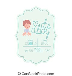 its a boy card with little baby character
