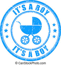 Its a boy stamp - Its a boy vector stamp