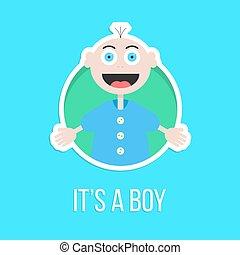 it's a boy with baby sticker